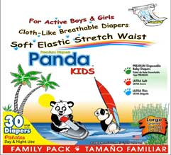 Diapers branded Panda-Kids